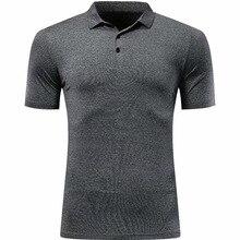 Мужская рубашка поло быстросохнущая спортивная одежда с коротким рукавом летняя теннисная рубашка баскетбольный спортзал Беговая футболка для бадминтона