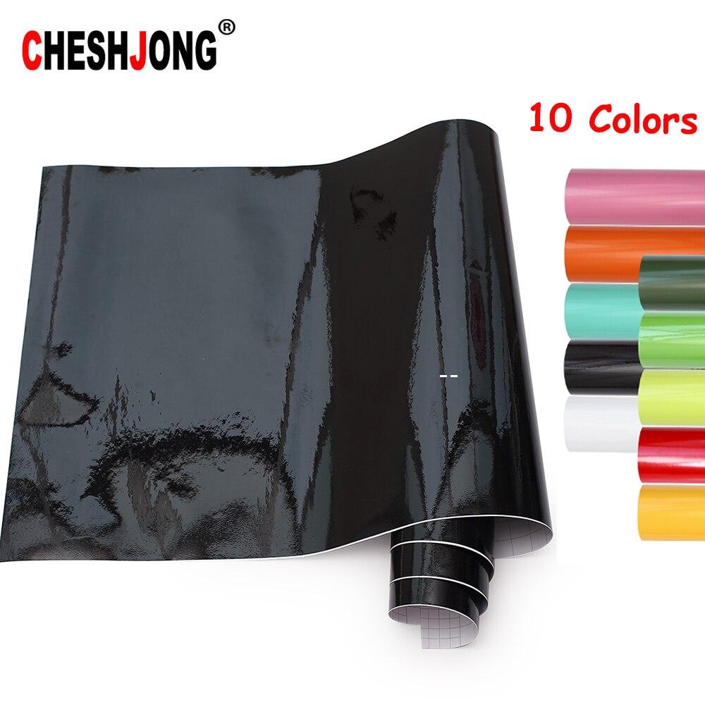 Helle Glossy Vinyl Auto Aufkleber Wrap Aufkleber Schwarz Weiß Gloss Film Wrap Einzelhandel Für HAUBE Dach Motorrad Roller
