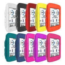 цены на 1pc Silicone Rubber Protector Cover For Garmin Edge 520 Bicycle Computer Skin Case в интернет-магазинах