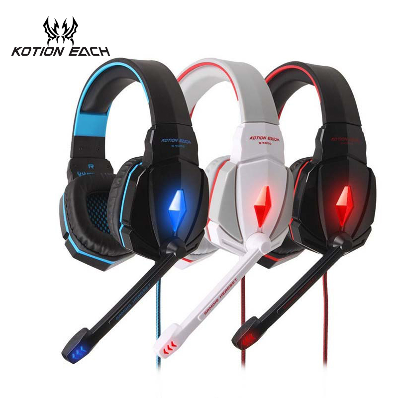 KOTION EACH casque Gaming Headset Game Earphone Gamer PC Game Headset Gaming Headphone with Mic For Computer With microphone