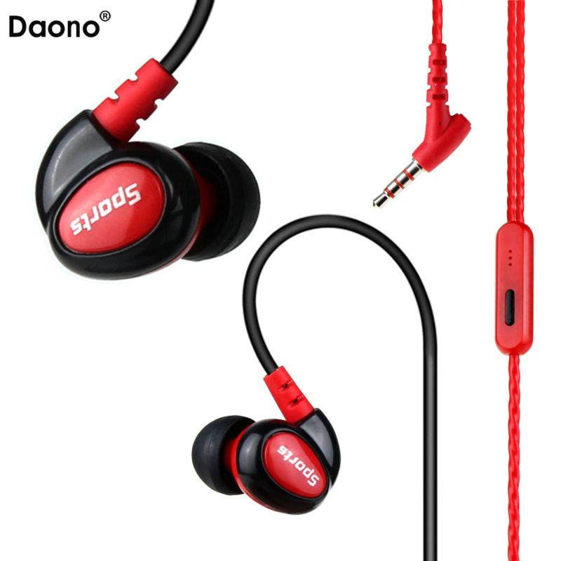 Waterproof IPX5 Earphones HIFI Stereo Bass Headphones Sports Running Headset Ear Hook Sweatproof Earbuds Handsfree With Mic picun p3 hifi headphones bluetooth v4 1 wireless sports earphones stereo with mic for apple ipod asus ipads nano airpods itouch4