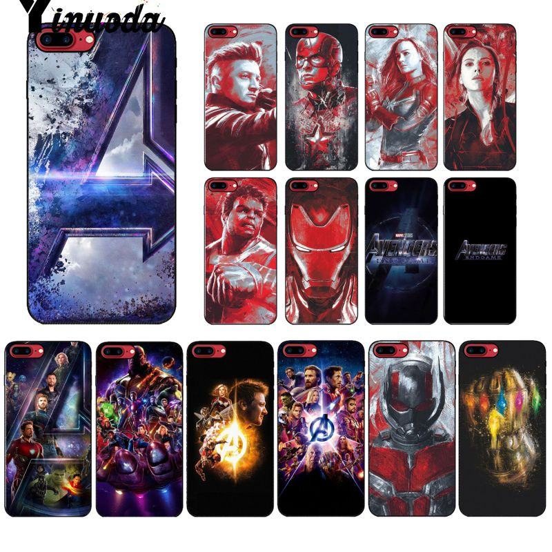 Yinuoda Marvel avengers endgame Colorful Phone Accessories Case for Apple iPhone 8 7 6 6S Plus X XS MAX 5 5S SE XR Mobile Cover marvel glass iphone case