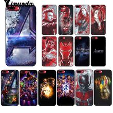 Yinuoda Marvel avengers endgame Colorful Phone Accessories Case for Apple iPhone 8 7 6 6S Plus X XS MAX 5 5S SE XR Mobile Cover yinuoda animals dogs dachshund soft tpu phone case for apple iphone 8 7 6 6s plus x xs max 5 5s se xr mobile cover