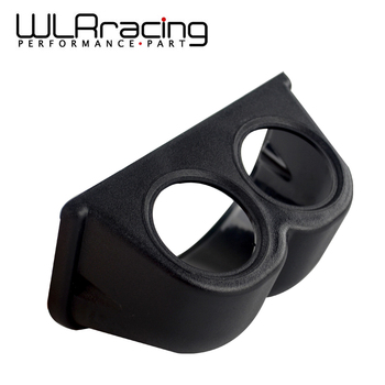 WLR RACING-doble calibre vaina 52mm agujero taza coche calibre vaina de tapa de taza Dash Pod de soporte titular de montaje de plástico voltee Metro automóvil
