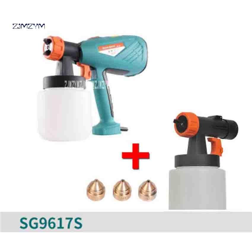 ZJMZYM New Arrival SG9617S High Atomization Electric Spray Gun Advertising Sprayer Paint Spray Gun 220-240v 650W 100DIN-S 800ml