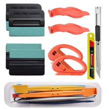 цена на Car Wrap Squeegee Magnetic Scraper Carbon Foil Film Cutter Knife Glue Sticker Household Cleaning Window Tinting Tools Kit K99