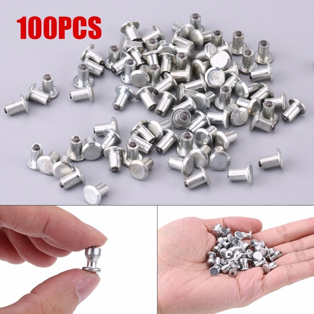 100pcs Wheel Tyre Stud Screws Snow Tire Spikes for Car Auto SUV ATV Anti-Slip Screws 8mm/0.31""