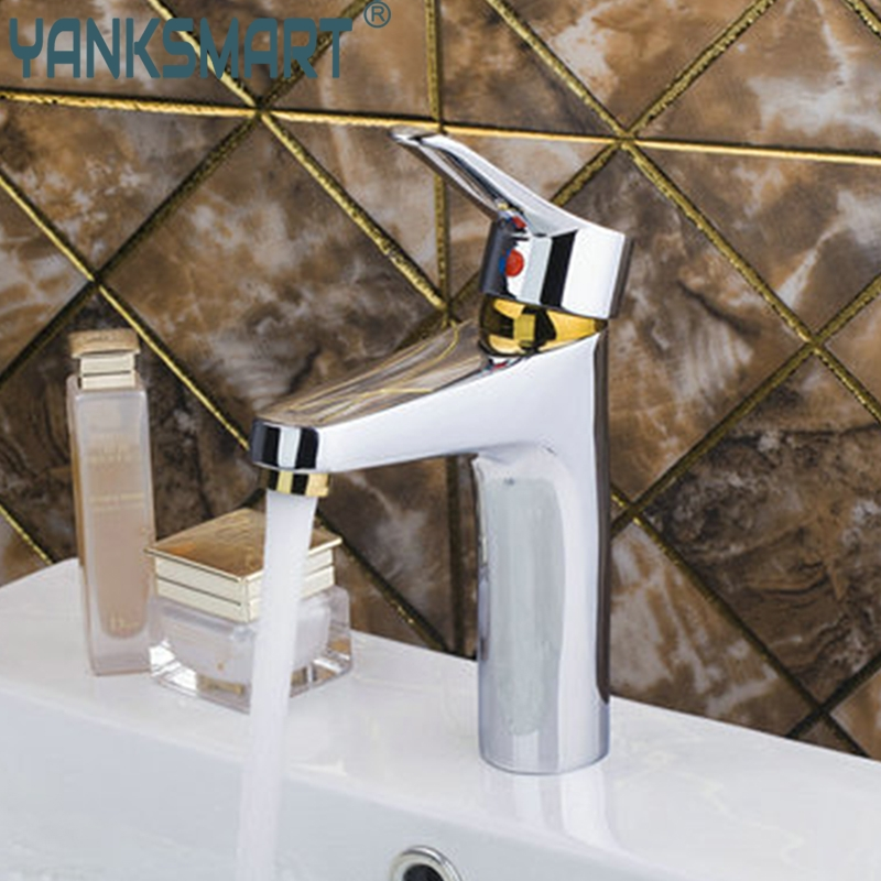 Bathroom Sinks,faucets & Accessories Bathroom Hort Hot/cold Golden&chrome Bathroom Brass Deck Mounted 97139 Sink Basin Torneira Grifos Cocina Faucets,mixers &taps Fashionable And Attractive Packages Basin Faucets