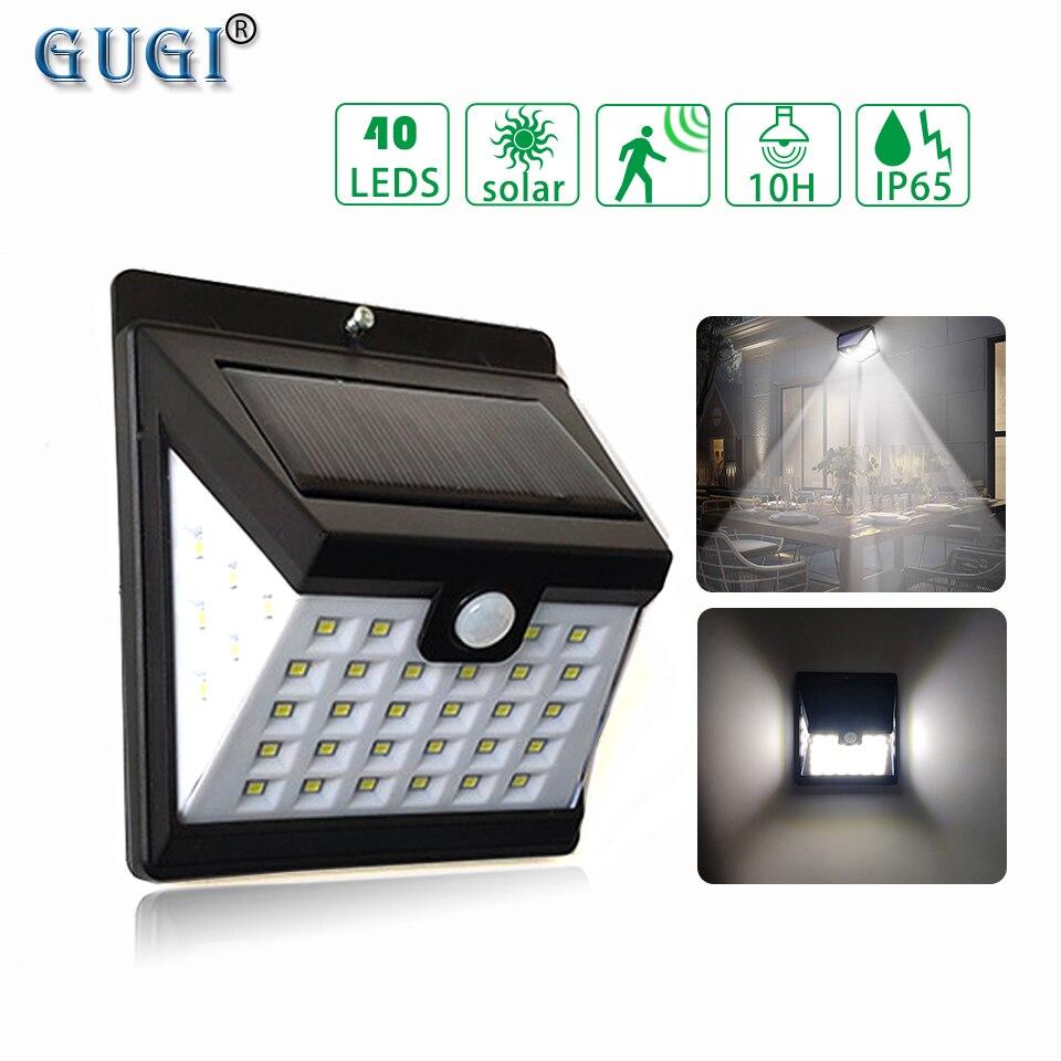 40 LED Solar Lamp With PIR Motion Sensor Led Street Light 3 Sides 270 Degree Led Garden Light Security Solar Lights For Garage