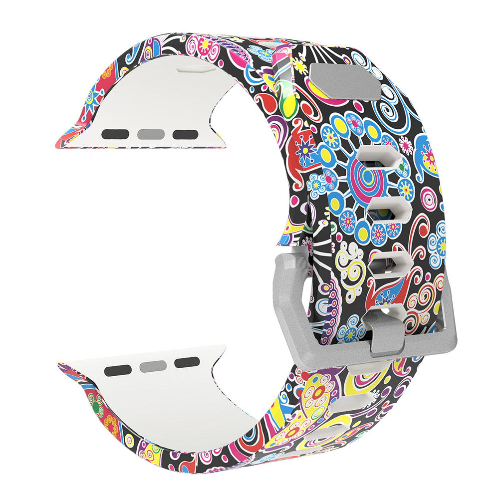 Replacement Band Strap For Apple Watch Iwatch Series 3/2/1 LuxuryEdition 38mm 42mm, Printed Silicone Bracelet Wristband