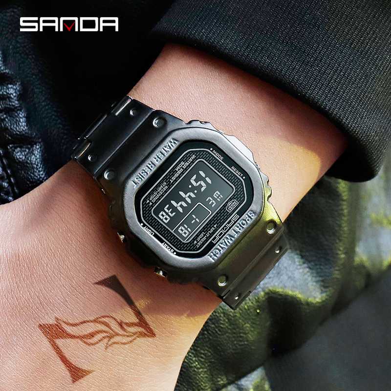 Sports Military Men Watches Casual Watch Stainless Steel Digital Wristwatches Waterproof Clock Relogio Masculino Erkek Kol Saati