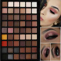 Profesional 54 colores sombra de ojos paleta efecto piel desnuda mate polvo sombra de ojos paleta iluminador de maquillaje pigmento ahumado sombra de ojos