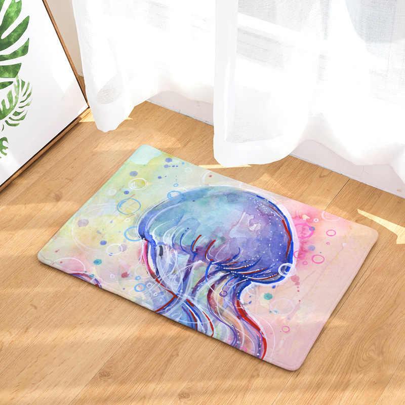 CAMMITEVER Золотая рыбка КИТ Медузы морских животных Ковер Крытый современные коврики Спальня коврик Детские дети ковер