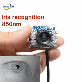 цена на HQCAM 720P IR MINI USB Camera module IR Infrared Night Vision Face Recognition Iris Recognition 850nm Narrow Band Effect Camera