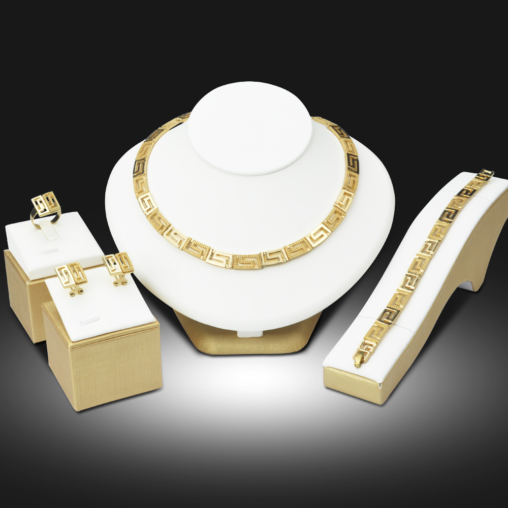 Dubai 18K Gold Plated Jewelry Sets Nigerian Wedding African Beads font b Crystal b font Bridal