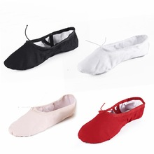 Ballet Dance Shoes For Girls Women Pointe Ballet Shoes Kids Children Soft  Sole Yoga Shoes 10 27b738e8942d