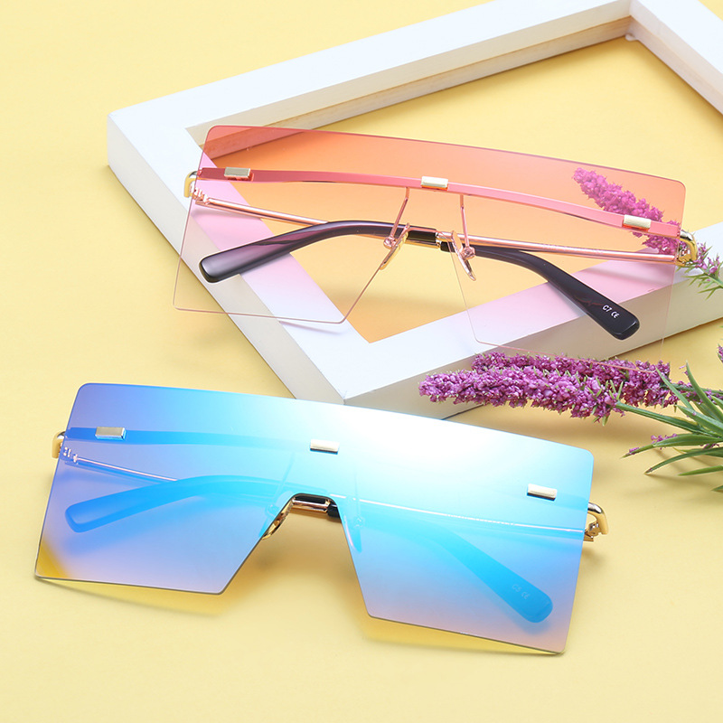a278bcb456f MINCL  Classic Oversized Goggle Sunglass Vintage Flat Top One Piece Big  Frame Sunglasses Women Men