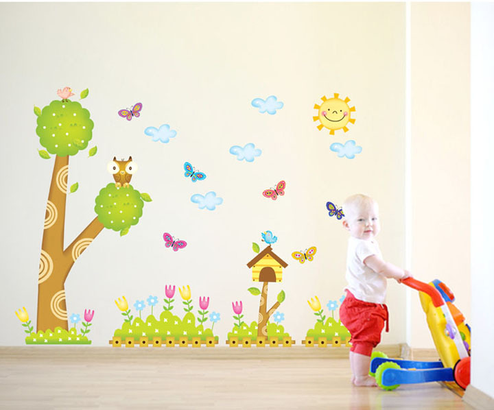 baby sun wall designs stickers kindergarten style wallstikers for kids room - Baby Wall Designs