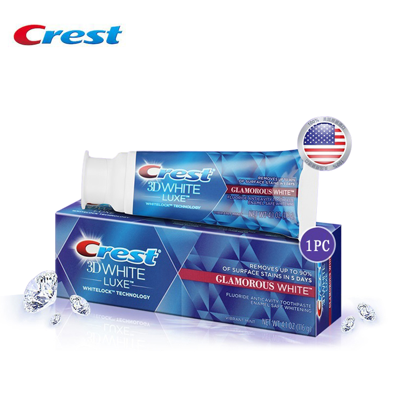 Crest 3D White Glamorous White Toothpaste Deep Clean Tooth Paste Oral Hygiene Vibrant Mint Teeth Whitening springbuds baby toothpaste protect teeth tooth baby children s toothpaste three kinds tastepaste cartoon toothpaste can swallow