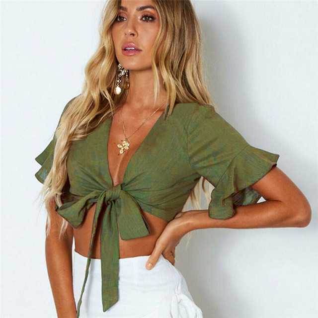 Fashion Women Casual Tank Crop Tops Vest Off Shoulder Bow sexy umbilical top vest