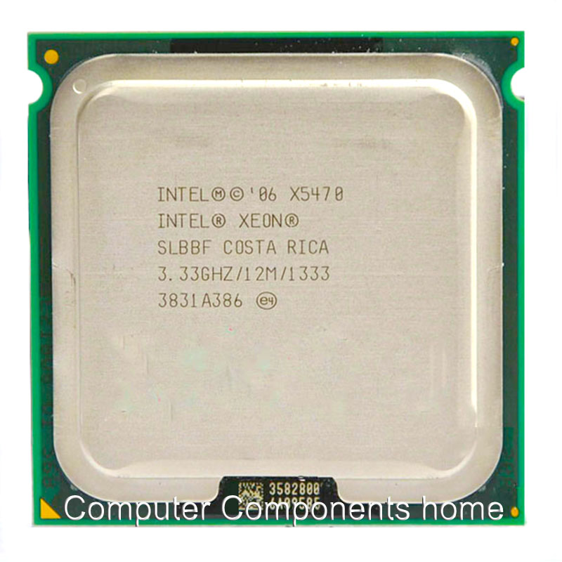 INTEL xeon X5470 LGA775 CPU processor (3.33GHz /LGA771/12MB L2 Cache/Quad Core/FSB 1333) server CPU with two 771 to 775 adapters