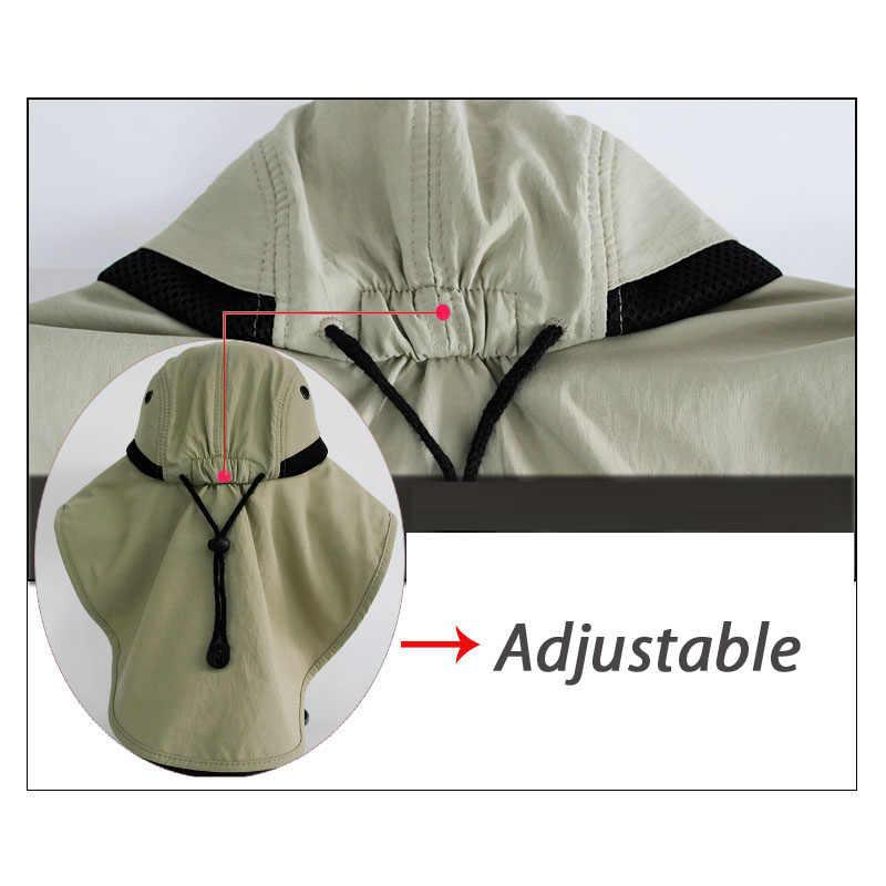 932be4a5fd99ef ... Fishing Hats Sun UV Protection Wide Cap for Men Women Waterproof Heat  Insulation New Fishermen Hat ...