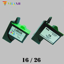 цена на For Lexmark 16 26 Ink Cartridges For Lexmark i3 z617 Z13 Z23 Z25 Z33 Z35 Z513 Z515 Z603 Z605 Z611 Z615 Z645 X2250 X74