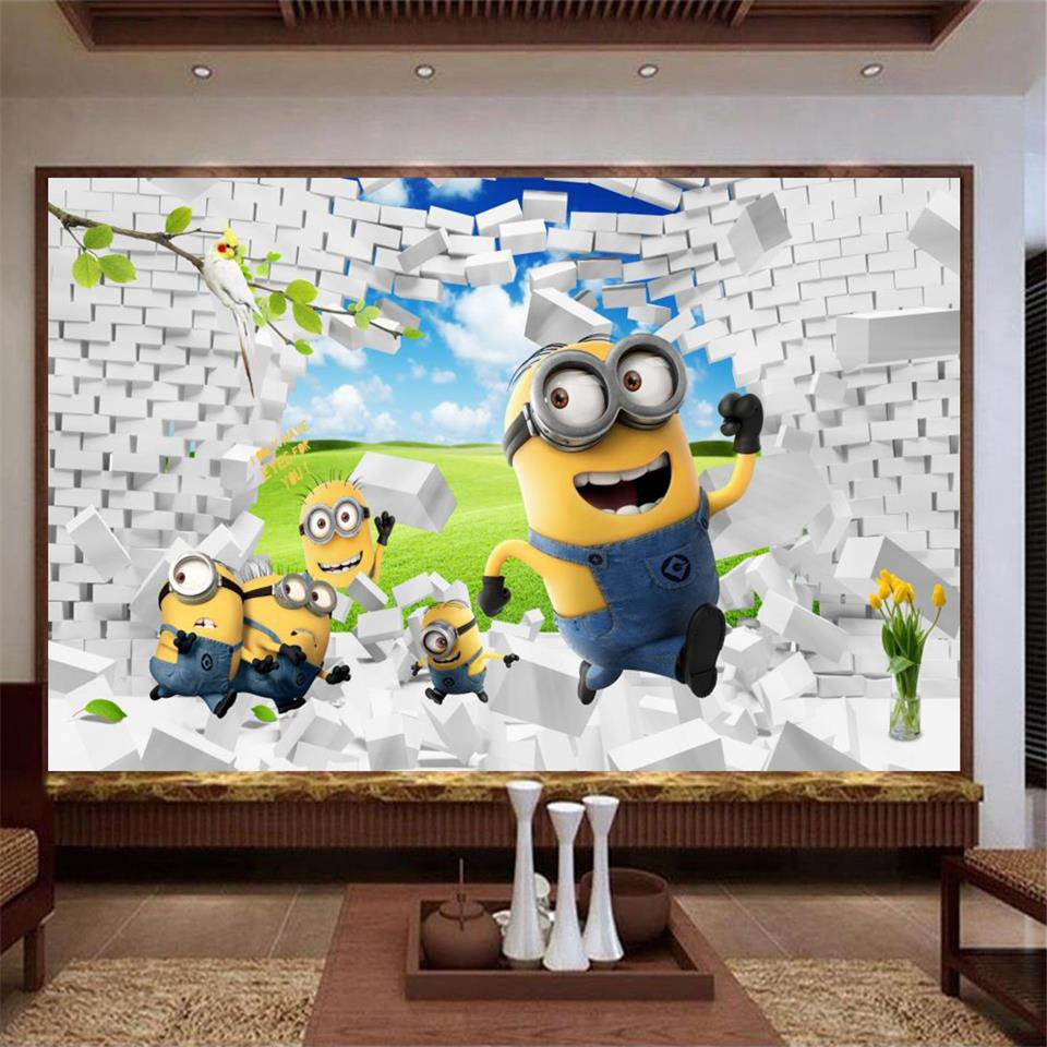 Minion wall mural gallery home wall decoration ideas minion wall mural images home wall decoration ideas tv background picture more detailed picture about 3d amipublicfo Images