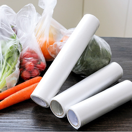 Disposable Plastic Bag Food Wrap Keep Fruit Vegetable Food Fresh Bag Refrigerator Storage Vacuum Sealer Saver Cover Roll Freezer