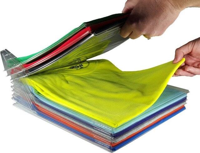 10 Pcs Clothing Organization System T Shirt Fold Organizer Household Closet Cabinet Organize Essentials