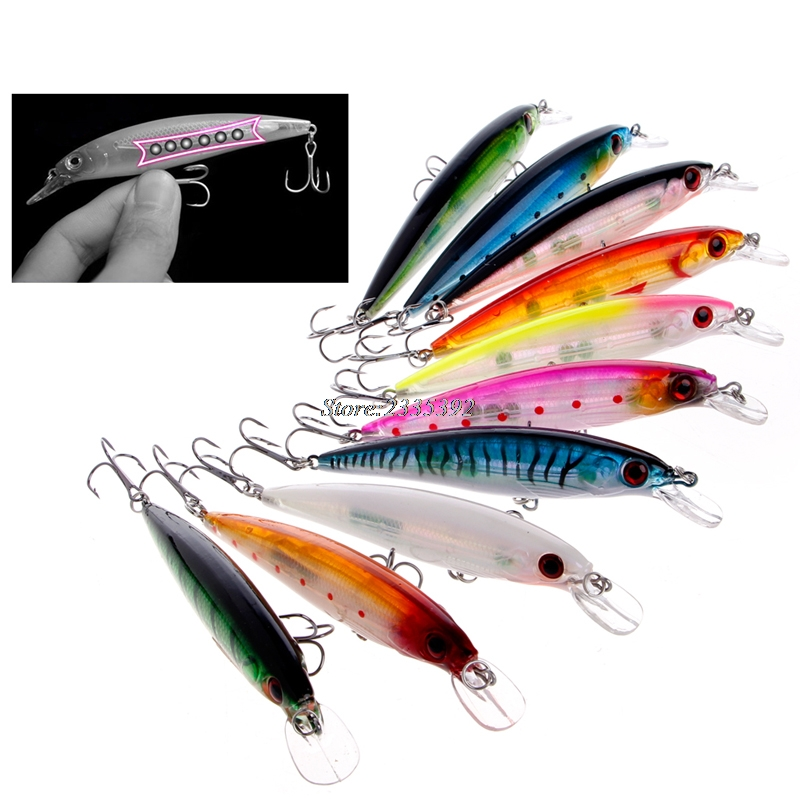 Minnow Fishing Lures Crank Bait Bass CrankBait Tackle 6# Hook 3D Eyes 11cm 13.5g MAY23_35 tsurinoya dw18 outdoor fishing lure crank bait with 2 hook 3d eyes fishing lures crank bait crankbait tackle swim bait wobblers