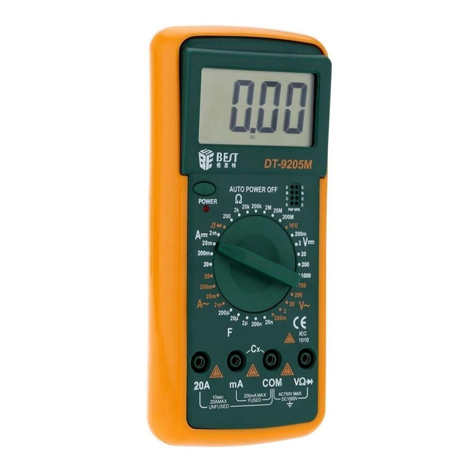 (Best -9205M) Upgraded version Wholesale BEST 9205M Handheld LCD Screen Digital Multimeter With buzzer Tester Meter