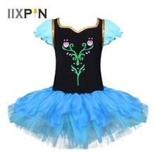 IIXPIN Kinder Mädchen Ballett Kleid Anna Prinzessin Cosplay Ballett Tanz Kleid Trikot Tanz tragen Kleid Ballett Tanz Kostüme Für Mädchen