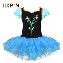 IIXPIN Ragazze Dei Capretti di Balletto Vestito Anna Principessa Cosplay Vestito Da Ballo di Balletto Body di Danza Vestito Da usura Costumi di Balletto di Danza Per Le Ragazze