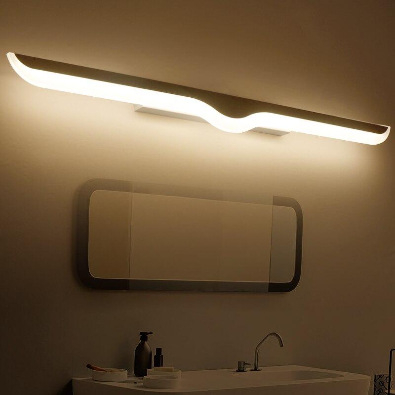 modern led mirror lights 0 4m 1 2m wall lamp bathroom bedroom headboard wall sconce lampe deco. Black Bedroom Furniture Sets. Home Design Ideas