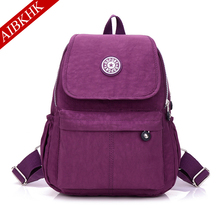 Nylon Women Backpack Backpacks for Teenage Girls Female Bagpack Travel mochila