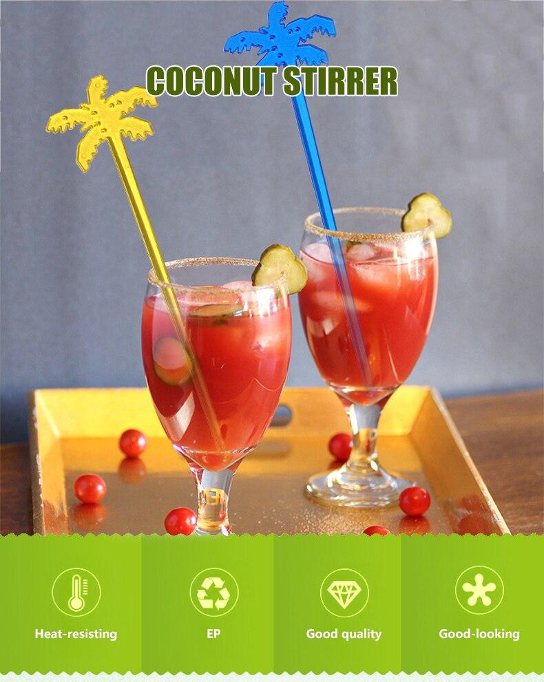 Swizzle Varas De Plástico Acessórios Para Bar