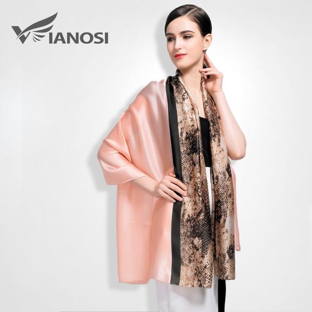 [VIANOSI]  Newest Design Leopard Scarves Silk Scarf Women Print Cachecol Brand Packaging Foulard Femme VA002
