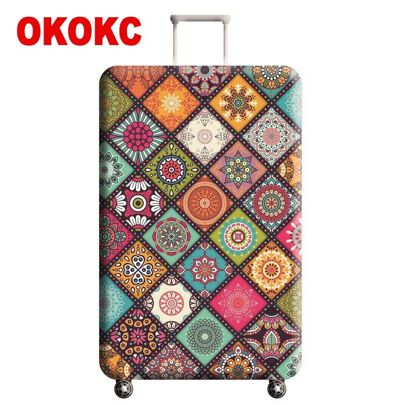 Funda de equipaje gruesa elástica con patrón de OKOKC para el maletero se aplica a la funda de 22 ''-25'', funda protectora para maleta accesorios de viaje