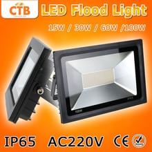 AC220V LED Flood Light 15W 30W 60W 100W Reflector LED Floodlight Waterproof IP65 Spotlight Warm/Cold White Outdoor Lighting