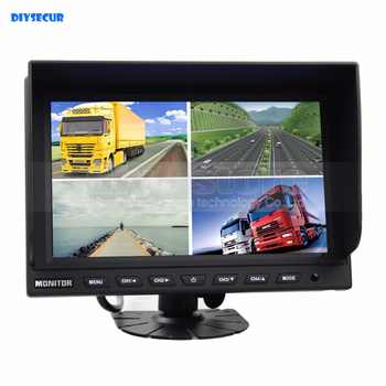 DIYSECUR 9 Inch Split Quad Display Color Rear View Monitor Video Monitor Screen for Video Surveillance System - DISCOUNT ITEM  19% OFF All Category