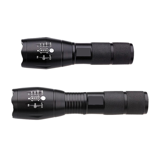 2017 5 mode Zoomable XML L2 5000LM T6 3800lumens LED Flashlight Torch tactical  light for AAA or 18650 Rechargeable Battery