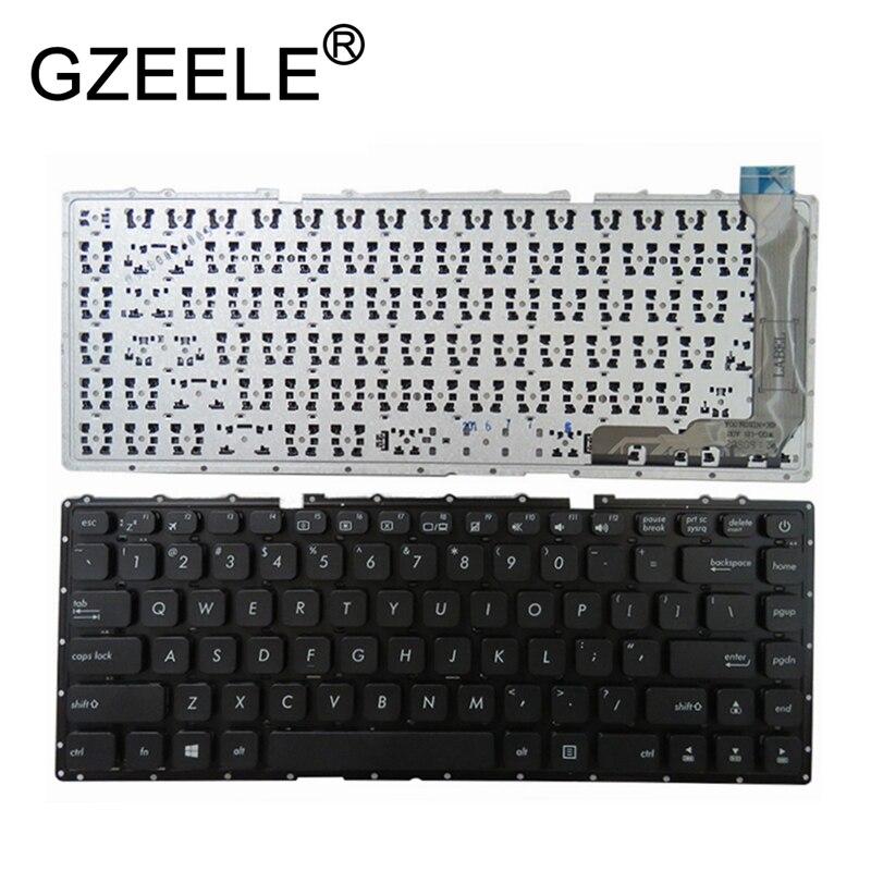 GZEELE New For Asus VivoBook X441 X441S X441SA X441SC X441N X441NA A441NA A441SA A441SC F441NA F441SA US Black Keyboard English