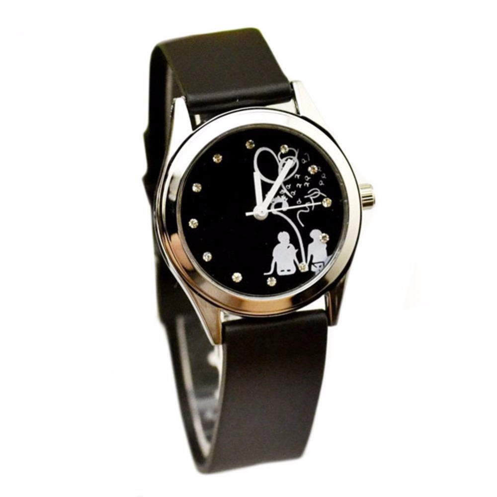 Hot Lovers Fashion Girls Watch Korean Leather Strap High Quality Quartz Es Lover  Clock Women Dress Unique Dial Design