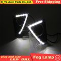 Car Styling Daytime Running Lights for Toyota Yaris LED DRL 2014-2015 Yaris LED Fog Light  Front Lamp Automobile Accessories