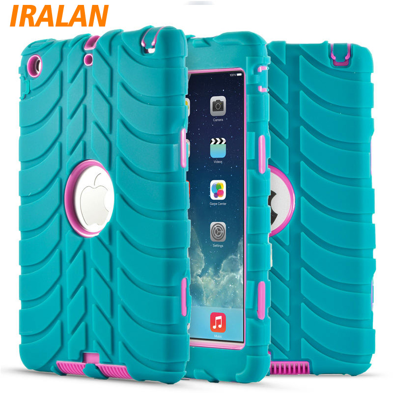 Hybrid Armor Case For iPad Mini 1/2/3 Kids Safe Shockproof Heavy Duty Silicone Hard drop resistance ipad tablet accessories for ipad 2 ipad 3 ipad 4 case kids safe shockproof heavy duty rubber hybrid armor hard case cover stylus