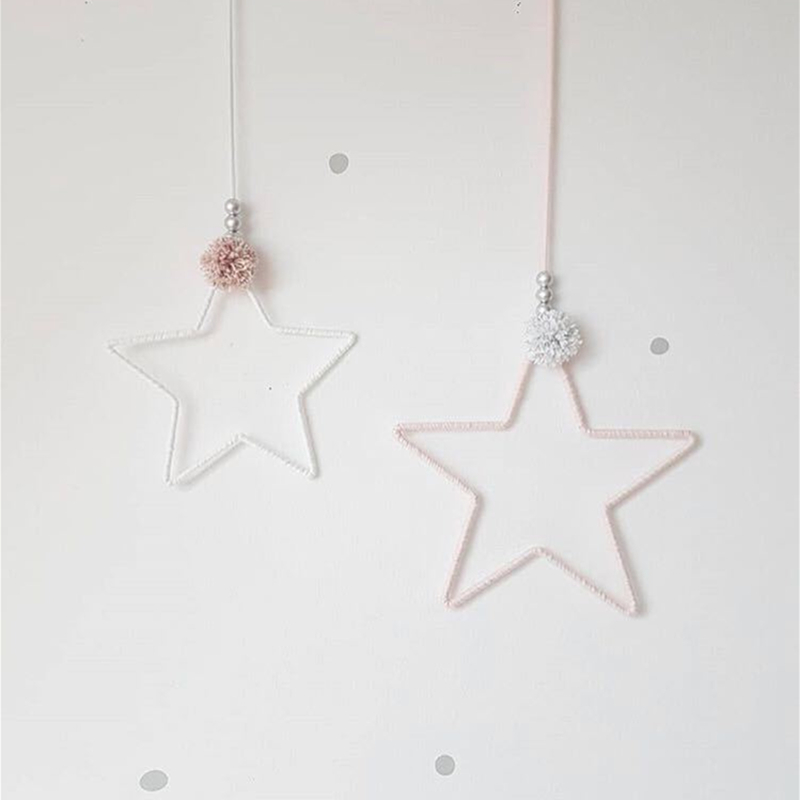 Baby Bedding Decoration Nordic Handmade Star Tent Toy For Room Decor Banner Bed Photography Props Crib Bumper Baby Room Decor