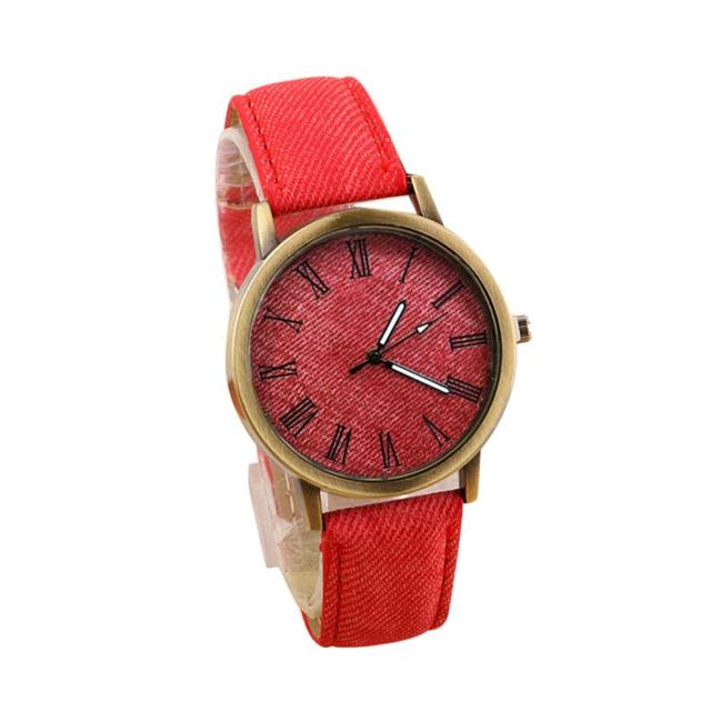Female Red Leather Fashion Wristwatches Top Quality Luxury brand Women's Bracele