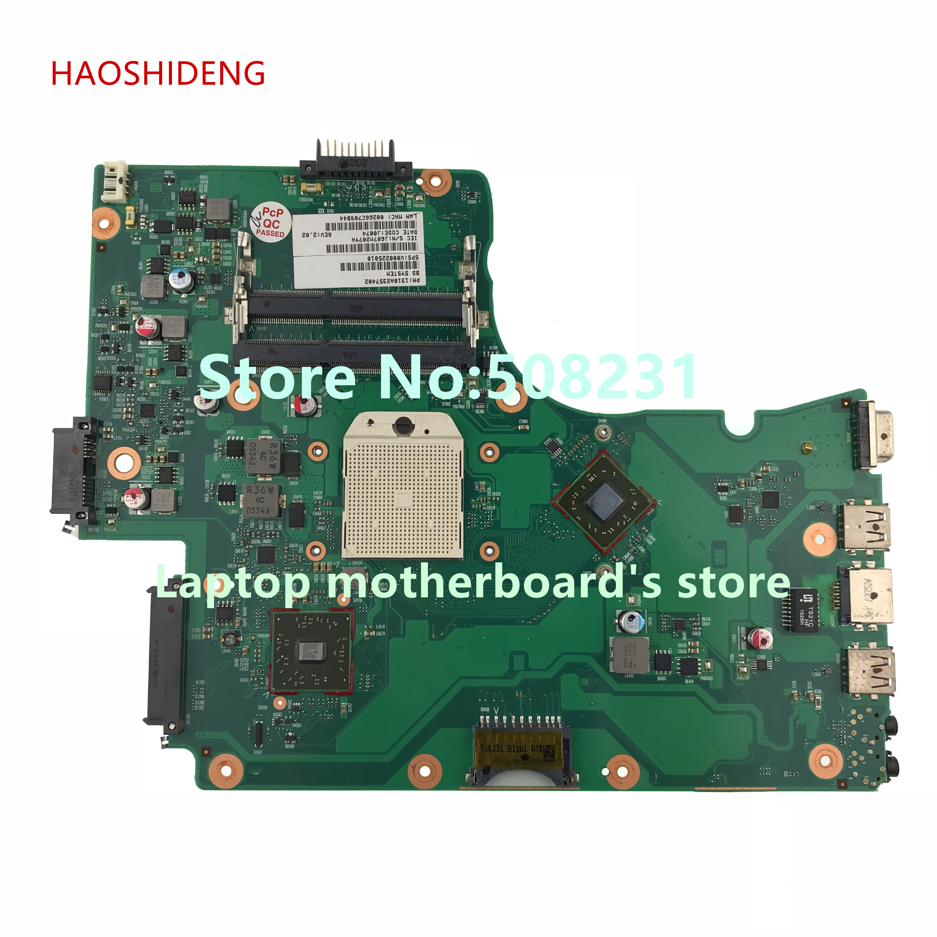 HAOSHIDENG V000225010 mainboard For Toshiba Satellite C650D C655D laptop motherboard 6050A2357401-MB-A02 dk10f 6050a2541801 mb a02
