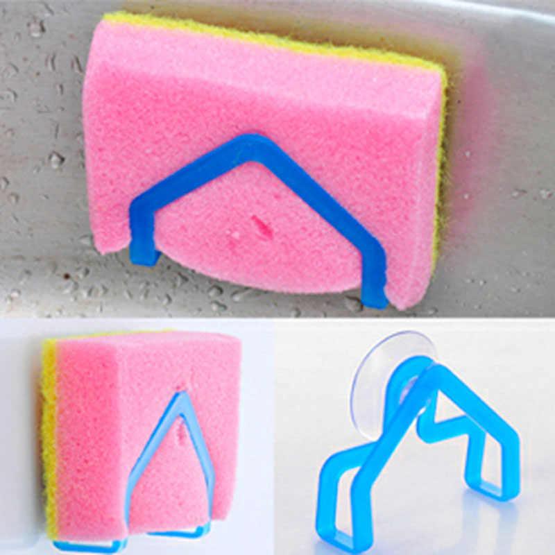 Estante de baño esponja estante de almacenamiento de ropa succión soporte de limpieza de cocina Clip de drenaje hueco de trapo estantes colgantes de jabón 8